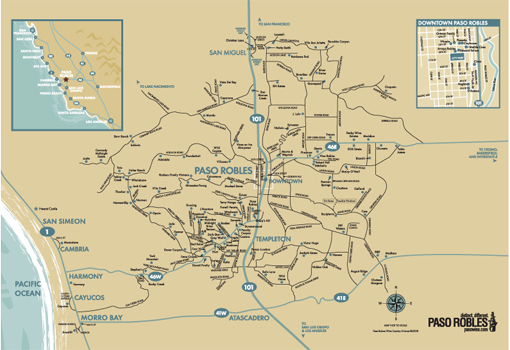 Paso Robles Wine Maps California Winery Advisor