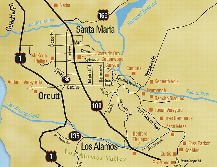 Santa Barbara Wine Maps California Winery Advisor