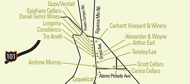 Santa Barbara Wine Maps - California Winery Advisor on