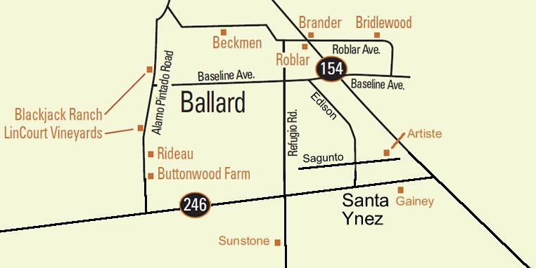 Santa Barbara California Map.Santa Barbara Wine Maps California Winery Advisor