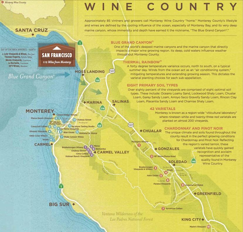 Monterey County Wine Maps California Winery Advisor