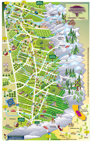 San Joaquin Winery Map California Winery Advisor - San joaquin on map of us