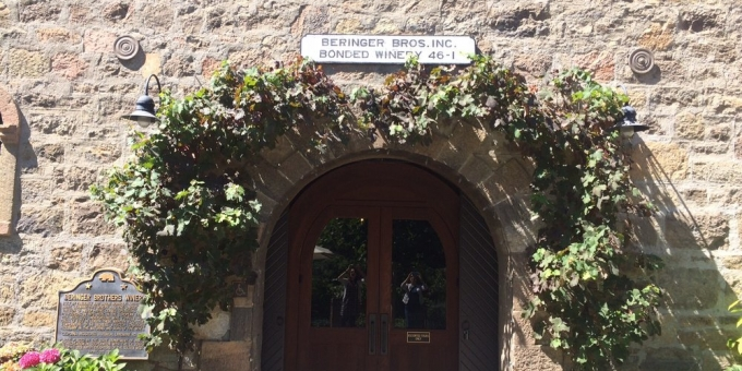Beringer Winery Napa Entrance