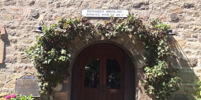 Beringer Winery Napa Entrance