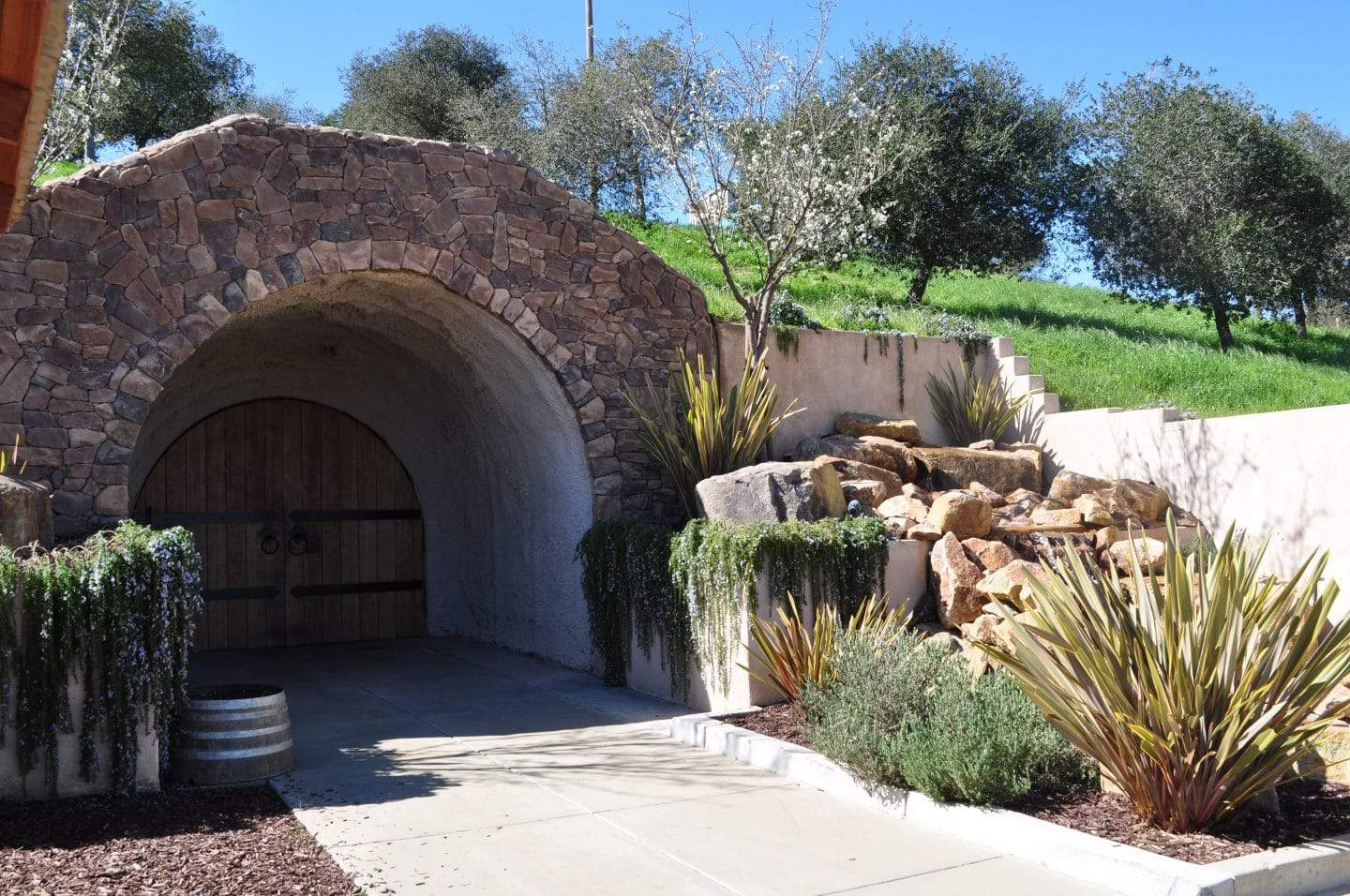 wine cave at california winery