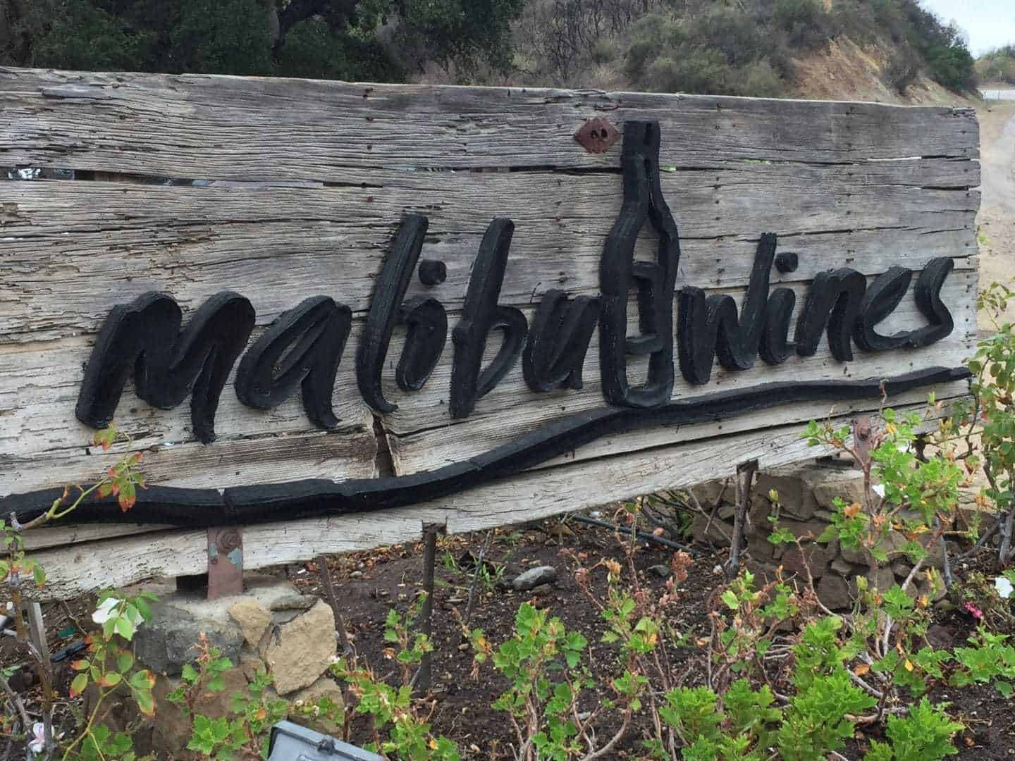 Malibu Family Wines sign