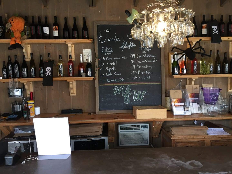 malibu family wines tasting menu