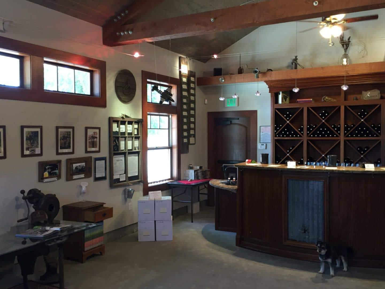inside steinbeck winery tasting room