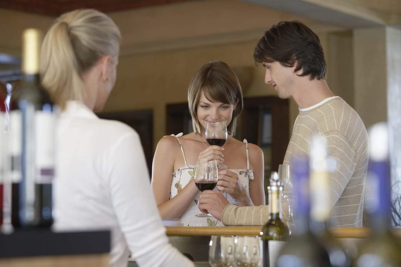 Wine tasting room in california