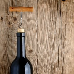 WIneBottle With Corkscrew