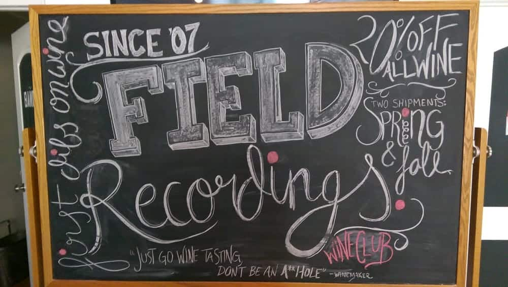 field recordings wine paso robles