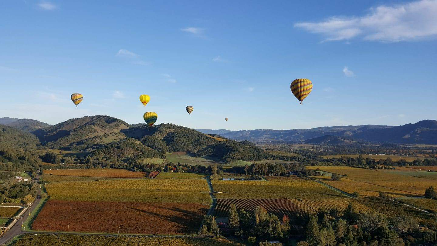 Hot Air Balloon Napa   Best Wine Country Activities 2019