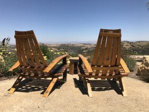 daou vineyards and winery view of paso from chairs made of wine barrels