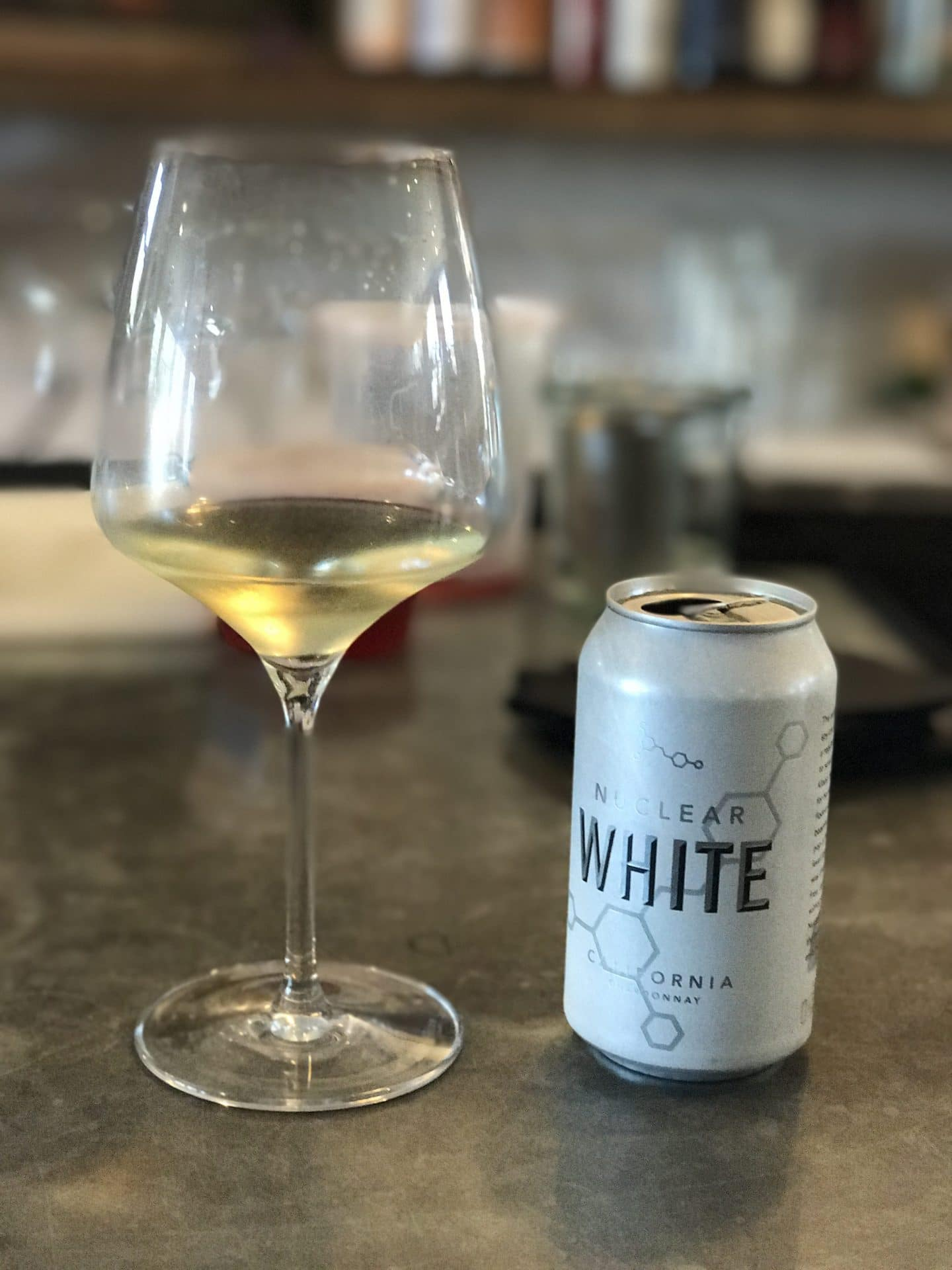 white wine in a can