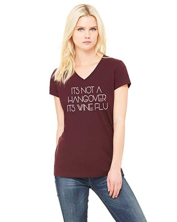 silly wine shirt